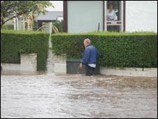 Flooding in Giffnock