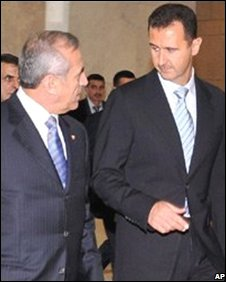 Michel Suleiman and Bashar al-Assad