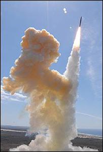 Prueba del sistema interceptor de misiles
