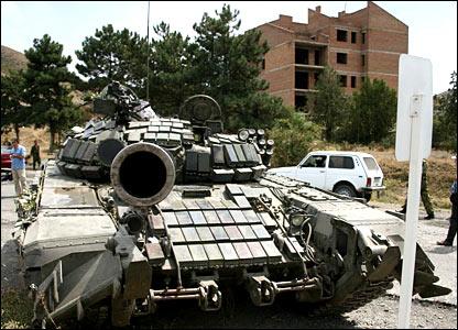 Грузинская сторона неоднократно сообщала о том, что Гори занят российскими войсками