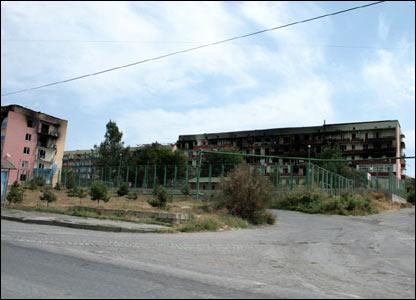 По словам Тбилиси, Гори лежит в руинах
