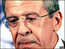 Russian Foreign Minister Sergei Lavrov on 13 August 2008