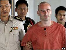 Christopher Neil in court in Bangkok on Friday for sentencing