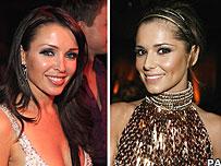 Cheryl Cole and Dannii Minogue