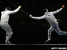 France's Fabrice Jeannet (left) fights Poland's Radoslaw Zawrotniak