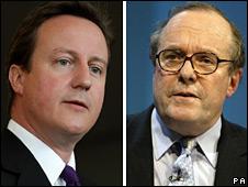 David Cameron and Michael Ancram