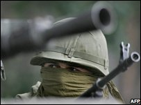 Russian soldier in South Ossetia