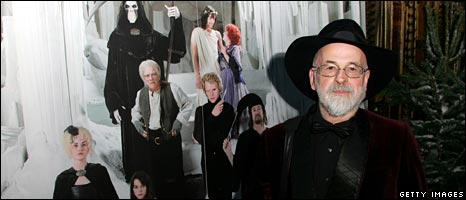 Terry Pratchett at the Discworld premiere