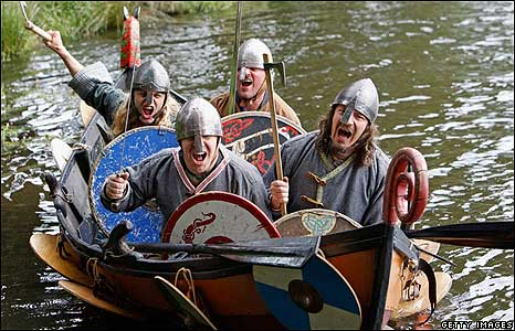 Viking re-enactment in Scotland