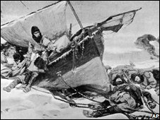 Painting by W Turner Smith of the Franklin Expedition