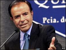 President Carlos Menem in 1999