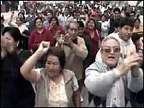 Protesta en Pisco