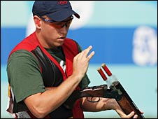 Vincent Hancock kept his nerve in the shoot-off to claim a dramatic gold medal