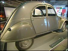 A 2CV at the Paris exhibition