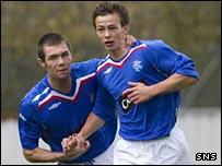 Rangers striker Steven Lennon