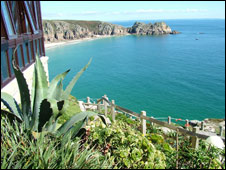 Minack garden overlooking Porthcurno: Pic Carol Heathcote
