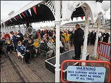 Service at pier: Photo Barry Batchelor/PA Wire