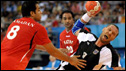 Christian Schwarzer of Germany in handball action
