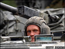 Driver of Russian tank in Igoeti (16 August 2008)
