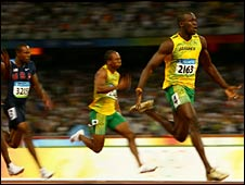 Usain Bolt is the first Jamaican to win 100m Olympic gold