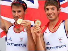Hunter and Purchase with their medals