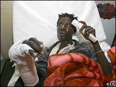 An MDC supporter in a hospital in Ruwa. Photo: 7 July 2008