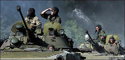 Soldados rusos en Georgia (16/08/08)