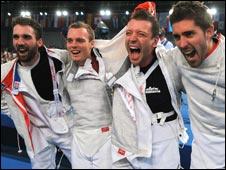 Nicolas Lopez, Vincent Anstett, Julien Pillet and Boris Sanson