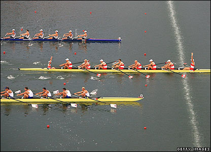 Wales' Tom Lucy wins silver in the men's eight