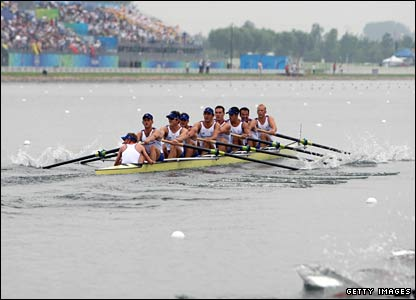 Tom Lucy helps Team GB's rowing eight to the silver medal