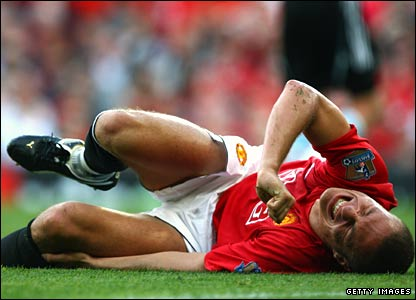 Nemanja Vidic of Manchester United