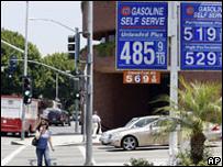 Gasolinera en Los Ángeles, EE.UU.
