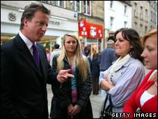 David Cameron in Lancaster last week