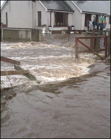 Daniel Devine sent in this image of flooding on Lurgan's Kilmore Road.