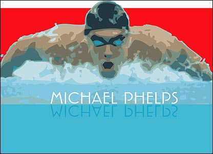 Edward White's interpretation of the Michael Phelps flag