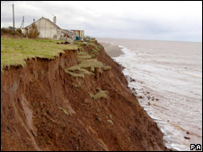 Coastal erosion in Yorkshire