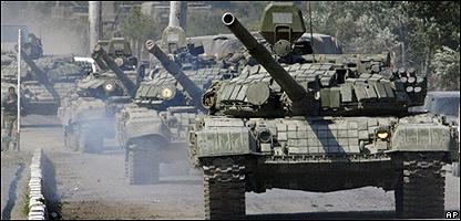 Tanques rusos en Georgia (10/08/08)