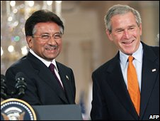 Mr Musharaff with George Bush