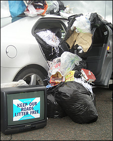 Motorway litter campaign launch