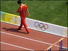 Liu Xiang retires from the race