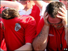 Football fans in despair