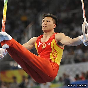 China's Chen Yibing earns gold in the men's rings with a superb display