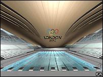 Imagen artística del Centro Acuático que Londres planea tener listo en 2012