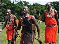 Maasai men, file pic July 2008