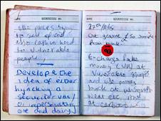 Diary belonging to  Aabid Khan