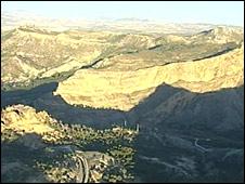 Arid mountains in eastern Spain