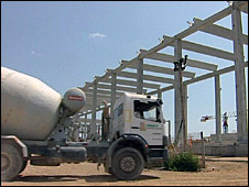 Desalination plant under construction