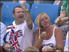 Rebecca Adlington's parents Steve and Kay