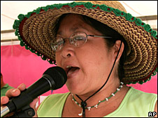 Margarita Mbywangi in Asuncion in March 2008