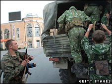 Russian troops in Gori (17 Aug)